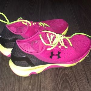 Fuchsia & Lime Green Under Armour Speedform Shoes